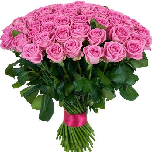 Купить на заказ Заказать Букет из 101 розовой розы с доставкой по Костанаю с доставкой в Костанае