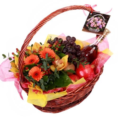 Купить на заказ Заказать Корзина с фруктами 9 с доставкой по Костанаю с доставкой в Костанае