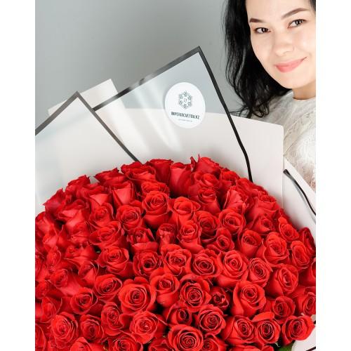Купить на заказ Заказать Букет из 101 красной розы с доставкой по Костанаю с доставкой в Костанае