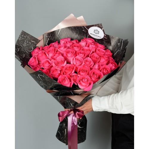 Купить на заказ Заказать Букет из 51 розовых роз с доставкой по Костанаю с доставкой в Костанае