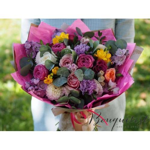 Купить на заказ Цветочный микс из гвоздик  с доставкой в Костанае